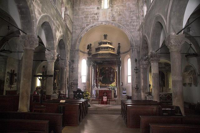 A Szent Márk székesegyház belülről, Korcula
