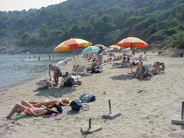 Homokos strand, Sunj-öböl, Lopud