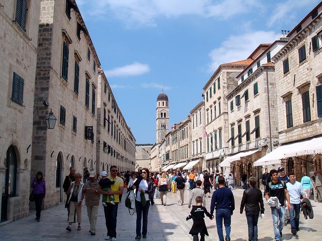 Üzletek a Stradun-sétányon, Dubrovnik