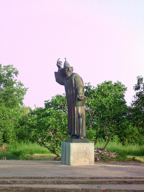 Grgur Ninski szobra, Nin
