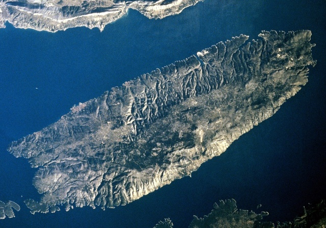 Brac-sziget műhold felvétele