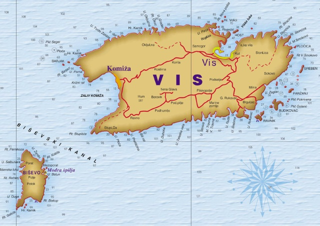 Vis és Bisevo szigetek