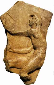 Kairos márvány domborműve, Szent Miklós kolostor, Trogir